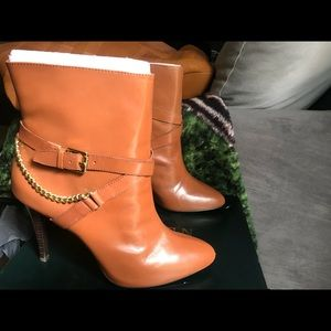 Tan Ankle Boots by Ralph Lauren